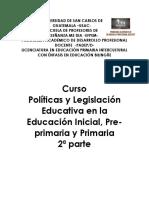 Políticas y Legislación Educativa