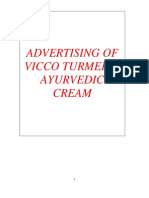 Advertising of Vicco Turmeric Ayurvedic Cream