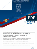 Presentaciòn Open Surgical vs Minimally Invasive Treatment of Thoracolumbar Ao Fractures Type a and b1 in a Reference Hospital