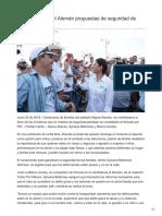 05/06/2018 Apoyan en Miguel Alemán propuestas de seguridad de Sylvana y Maloro/