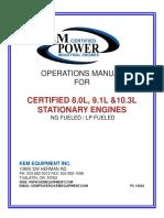 Manual Industrial Stationary 8L 9L 103L