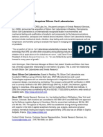 ORS and Silicon Cert Press Release