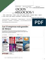Las 15 Empresas Más Grandes de México - Grupo Milenio