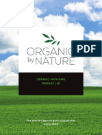 OBN Organic Ingredient Brochure