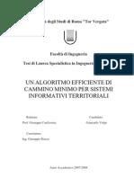 Un Algoritmo Efficiente di Cammino Minimo per Sistemi Informativi Territoriali (Estratto)
