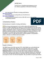 Introduction to Databases and SQL Server-Srikar