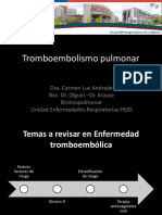 Enfermedad Tromboembolica Jornada Medicina Dra Andrade