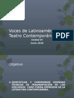 Voces de Améric Latina y Teatro Contemporáneo