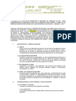 Contrato Del Servicio de Obtención de Muestras de Concreto in Situ Para Determinación de Resistencia Final en El Proyecto Techo Propio a Cargo de La Empresa Constructora Seycon Sac Lugar Provincia de Caylloma