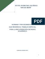 1. Normas y Procedimientos Que Regiran El t.r.i.a. 2001 Iupsm