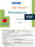 Plan 4to Grado - Bloque 5 Matemáticas.doc