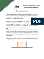 Introdução à Geometria Analítica- Ponto Reta e Plano