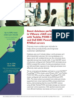 Boost database performance in VMware vSAN environments with Toshiba PX05S SAS SSDs and Dell EMC PowerEdge R740xd servers