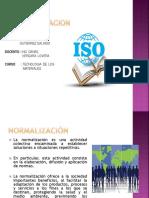 Tema 3 Normalización Tecnologia de Los Materiales