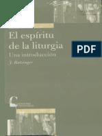 El Espíritu de La Liturgia - Joseph Ratzinger
