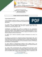 Compte Rendu Du Conseil Des Ministres - Mercredi 6 Juin 2018