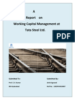 Project Report on Working Capital Management at Tata Steel Ltd.