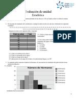 Evaluación de Unidad-estadística