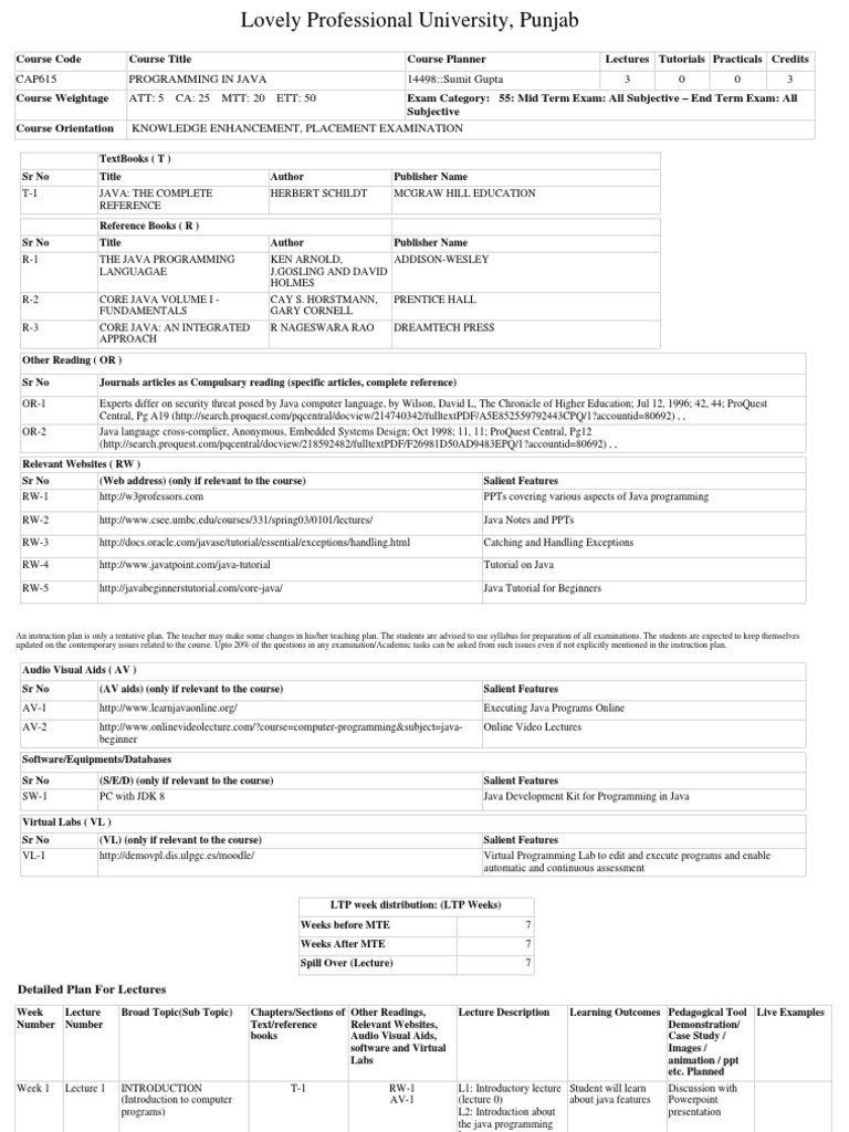 Book java gary pdf cornell