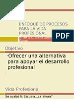 Enfoque de Procesos Para La Vida Profesional