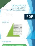 Costos de Producción de Aceite de Oliva y Aceites Comerciales