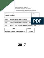 Informe de Laboratorio 3 Mecanica de Fluidos