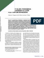 Maternity Blues Phenomena and Relationship to Later Postpartum Depression