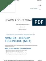 Tecnica Del Grupo Nominal - ACQ