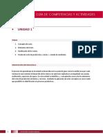 Competencias y Actividades - Unidad 1