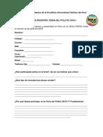Ficha de Registro Feria Del Pollito 2018 1