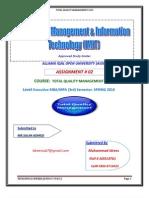 TQM2nd Assignment