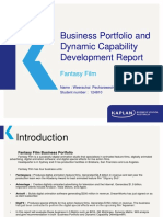 Business Portfolio and Dynamic Capability Report Powerpoint
