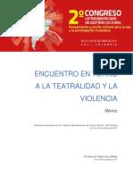 Encuentro en Torno a La Teatralidad y La Violecia en México. Ramsés Figueroa