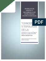 """""""Concepto y Tipología de La Educación"""