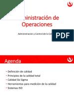 Sesión Administración de la Calidad y Control del Proceso