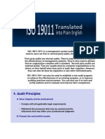ISO 19011 2011 is a Management System Auditing Standard