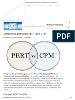 Difference Between PERT and CPM (With Comparison Chart) - Key Differences