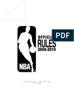 Official NBA Rule Rook 09-10