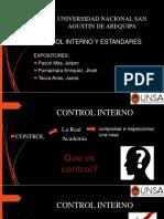 Control Interno y Estandares de Calidad