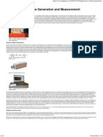 High Power Rf Pulse Generation and Measurement