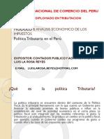 Política Tributaria en El Perú EXPOSICION PPT