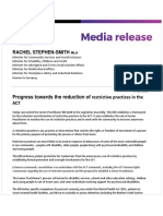 Progress Towards the Reduction of Restrictive Practices in the ACT