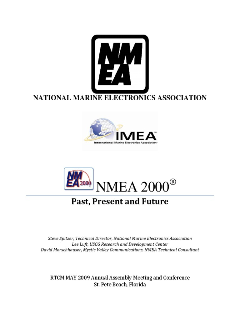 20090423 rtcm white paper nmea 2000 pdf | Ethernet | Computer Network