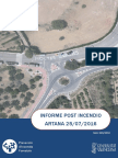 Informe post incendio forestal  Artana 25/06/2016