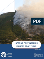 Informe post incendio forestal Montán 07/07/2015