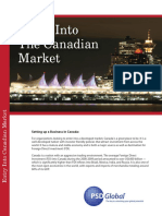 Entry Into Canadian Market