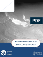 Informe post incendio forestal Bolulla 04/09/2016