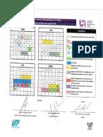 Calendario UPMH Mayo - Agosto 2018