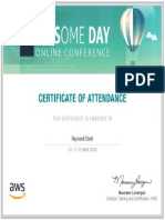AWSome Day Online Certificate