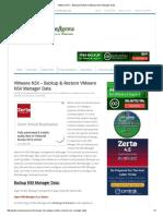 VMware NSX - Backup & Restore VMware NSX Manager Data